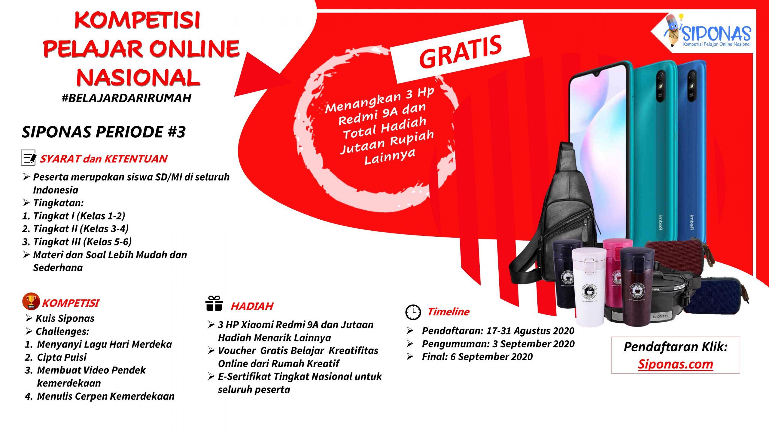 "Siponas ""Kompetisi Pelajar Online Nasional"""