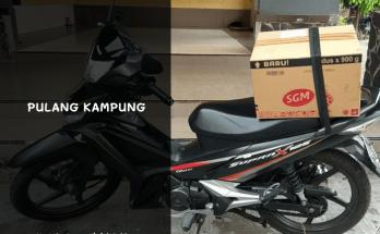 mudik dan pulang kampung menggunakan sepeda motor supra x